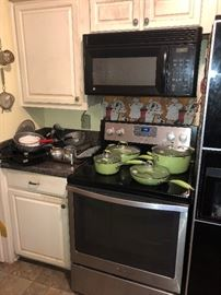 Enamel ware, brand new pots and pans