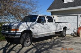"1997 Ford F350 ""Roll-Along"" package, 4X4 quad-cab, 460 Big Block. leather seats, long bed, 180k miles"
