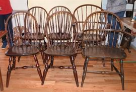 "6 Windsor chairs w/labels  (""From TheHome of Windsor Chairs / Nichols & Stone Co. Gardner, Mass."")"