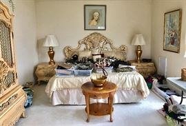 Gorgeous bed covered in handbags
