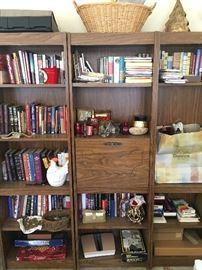 Book case; assorted books