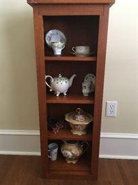 Small wood shelf unit