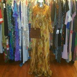Vintage peacock dress