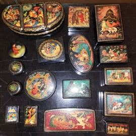 Laquer boxes