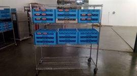 (4) tier wire metal metro rack