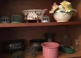 Vintage and newer garden items