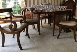 Drop leaf table and 6 chairs