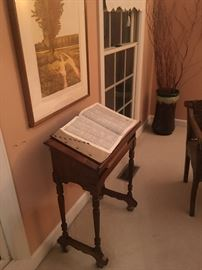 Antique bible stand