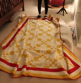 Large early 20c. Quilt