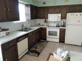 "2nd floor kitchen; Hotpoint fridge 31.5"" wide x 31"" deep x 66.5"" tall"