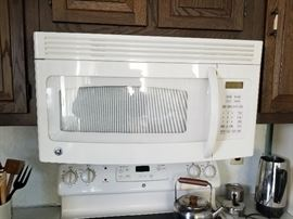 GE microwave oven 30""