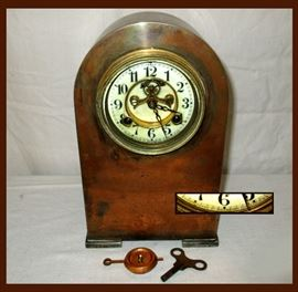Solid Copper Clock Manufactured by the Waterbury Clock Co
