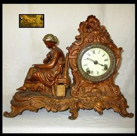 Very Nice Antique Heavy Ansonia Clock