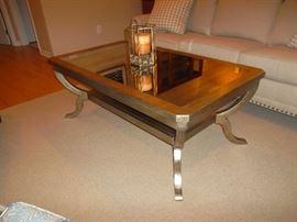 Hooker platinum leaf coffee table