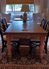 Was $600 will now be $300                                                             Dining table 39 1/2 x 79 (table only, no chairs)