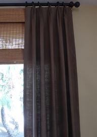 Linen curtain panels 103x48 (linen matches sofa and chair)