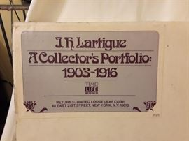 Very rare - J.H. Lartique - A Collectors Portfolio 1903 - 1916 - Time Life books. Reserve price $1500  This # 750 of 5000 English-language sets. Signed by Lartigue and numbered on label mounted to inside flap of solander case. Increasingly scarce in commerce.