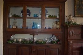 The Cabinet is full of Antique Treasures