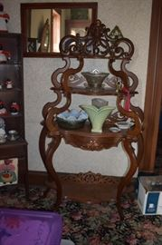 Beautiful Antique Etagere' adorned with many Collectibles!