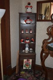 Antique Hutch ( that will fit in almost any space ) filled with Aunt Jemima Collectibles