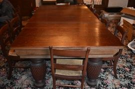 This is the Original Dining Table Purchased and Moved from Virginia to the Plantation in 1838. There has never been another Dining Table in the Formal Dining Room. It is a Gorgeous Dining Table with Highly Carved Pineapple Legs and can easily host at least 12 people!