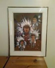 Four Native Chiefs Serigraph Proof
