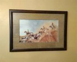 Limited Edition Cattle Drive Print by Schmidt