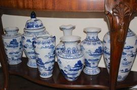 Blue/White Urns