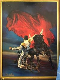 Vintage Bullfight Scene by John DeKay