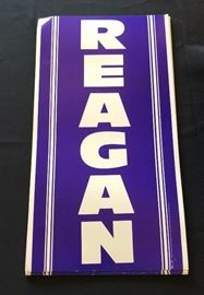 Original Reagan Campaign Sign 1980 Election