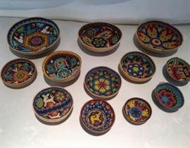 Mexican Huichol Bowls