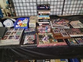 Vintage Baseball, Basketball, Football, and Hockey Sport Cards. Michael Jordan Items and Cards. Cubs Hats.