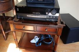 Small 2 Drawer Side Table and Electronics