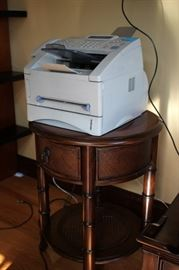 Printer and Round Side Table