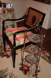 Pair of Side Chairs and  Side Stand