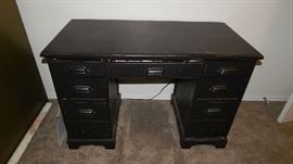 DISTRESSED BLACK DESK