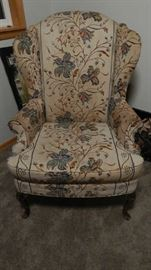 VINTAGE WING BACK CHAIR.
