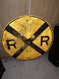 Vintage RR sign