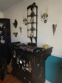 Oriental buffet , Cabinet Shelving