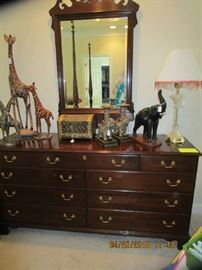 Dresser loaded with unique Animal Accessories... Chest, Glassware, Lamps, Artwork... So Clean and everything is like new.....