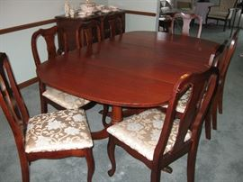 Duncan Phyfe Dining Room Set with 8 Chairs and Extra Leafs