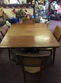 #5	Drop Down Table w/4 Folding Chairs 46x38x30	 $75.00