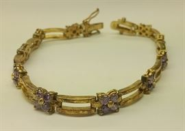 Sterling bracelet with amethyst