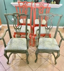 Queen Anne chairs (6 including 2 armchairs) $300