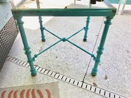 Turquoise table $25