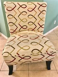 "Geometric side chair (27""W x 23"" D x 17 1/2"" seat height and back is 36"") $40"