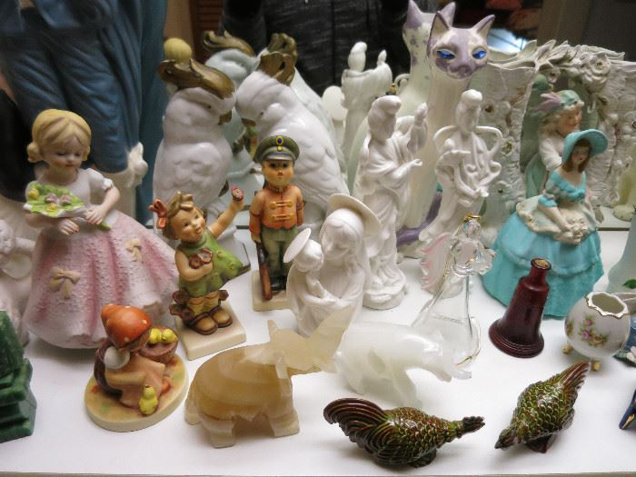 Hummel Figurines, Madonna And Child, And Other Nice Pieces