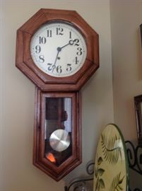 vintage hand-made clock in very fine condition