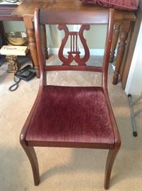 set of four pretty chairs in fine shape. (30's era)