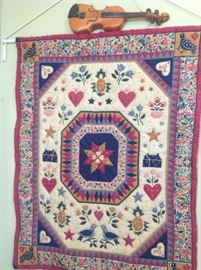 pretty quilted wall hanging